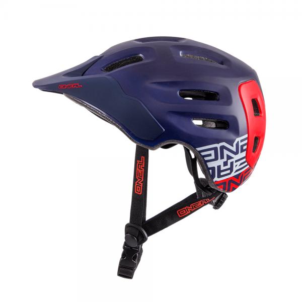 Defender Flat All Mountain Helm - dark blue/red