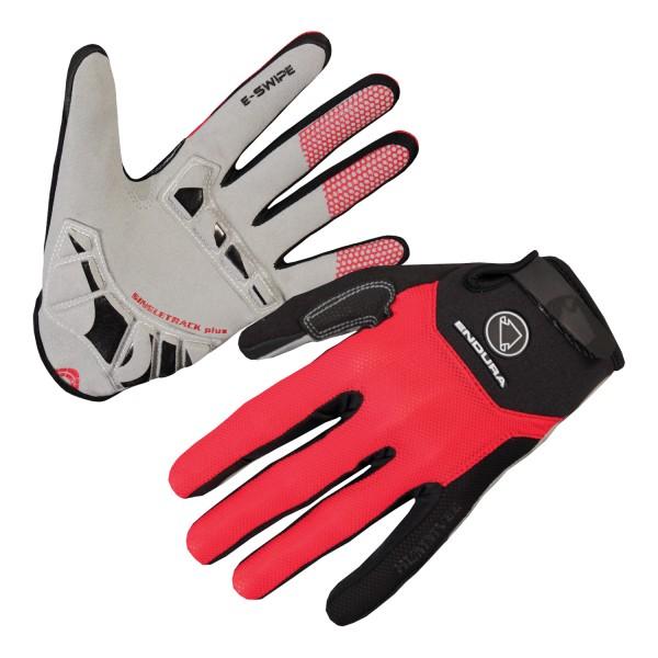Singletrack Plus Handschuh - Rot