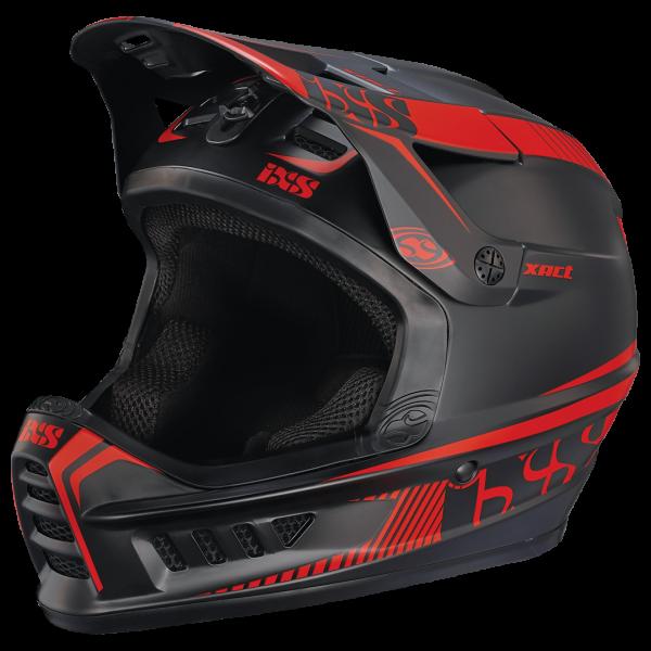 Xact Fullface Helm - black/fluor red
