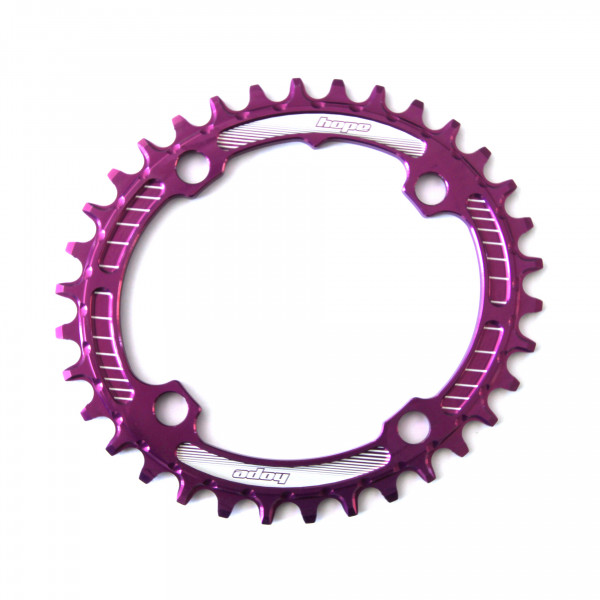 Oval Retainer Kettenblatt - purple