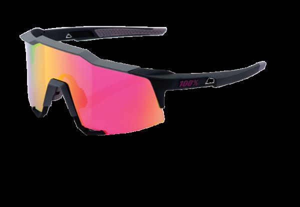 Speedcraft Sportbrille - Tall - Mirror Lense - Soft Tact Graphite