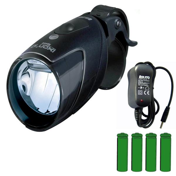 IXON IQ Speed Akkuscheinwerfer mit Akku + Ladegerät
