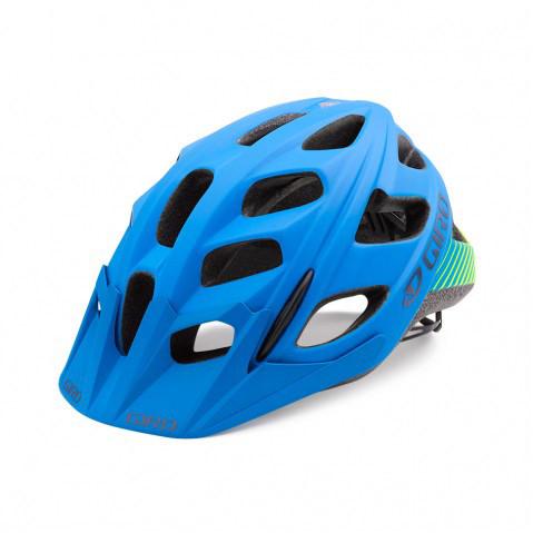 Hex Helm - matte blue/lime