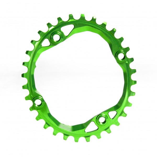 Kettenblatt - Oval - 104 BCD 4-loch - grün