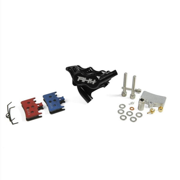 RX4 Bremssattel Flatmount Complete hinten - Shimano - Schwarz
