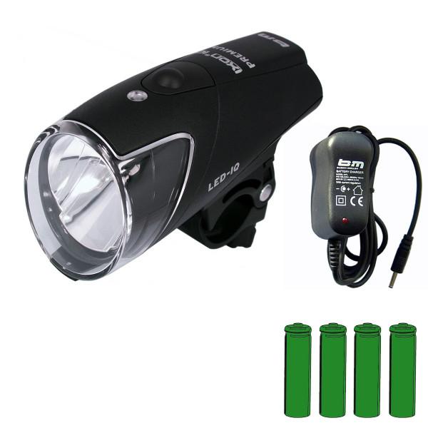 IXON IQ Premium Akkuscheinwerfer inkl. Akkus + Ladegerät