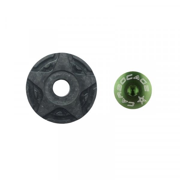 Top Cap Carbon 3D Aheadkappe - grün
