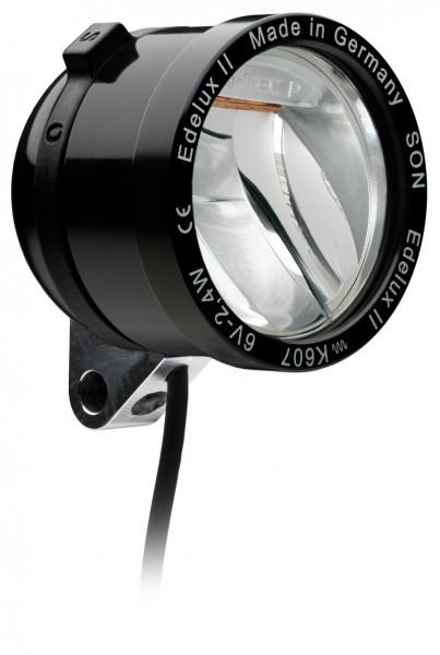 Edelux II LED-Scheinwerfer für Nabendynamos-schwarz eloxiert