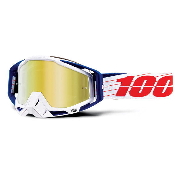 Racecraft Goggle Anti Fog Mirror Lens - Bilal/White