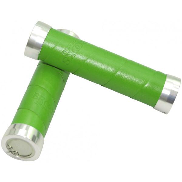 Slender Lenkergriffe aus Echtleder 130mm - apfelgrün