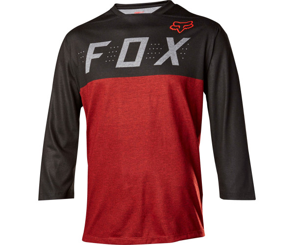 Indicator Jersey - Heather 3/4 Jersey - Heather Red