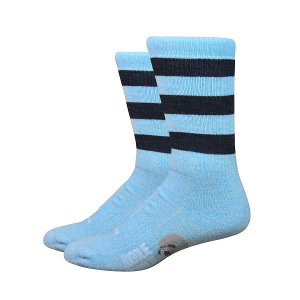 Woolie Boolie Socken - Vintage Stripes - Blau/Schwarz
