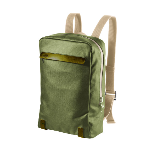 Pickzip Canvas Rucksack - hay green/olive