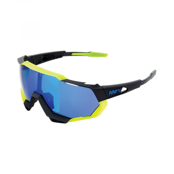 Speedtrap Sportbrille -  Mirror Lense - Polished Black / Neon Yellow