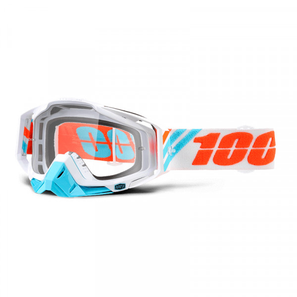 Racecraft Goggle Anti Fog Clear Lens - Calculus Ice