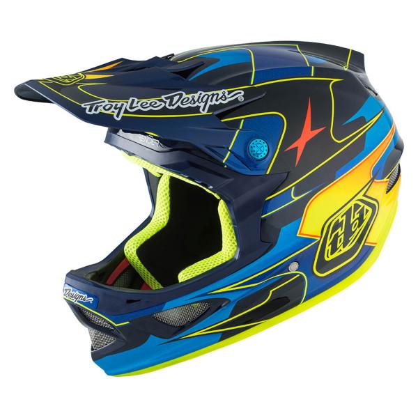 D3 Carbon MIPS Fullface Helm Render Blue