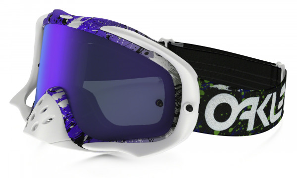 Crowbar MX Goggle  - Factory Pilot Splatter Green/Purple - Violet Iridium/Clear