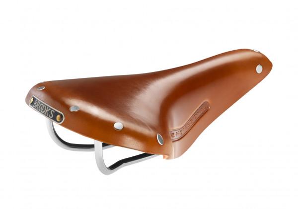 Team Professional Classic Sattel - honig braun