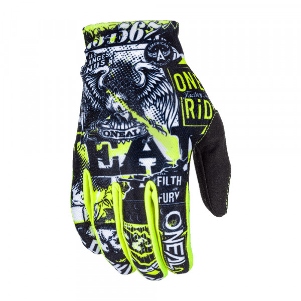 Matrix Glove Attack Handschuh - black/neon yellow