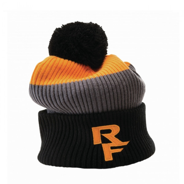 Doug Rib Knit Toque Bommelmütze - Orange/Grey