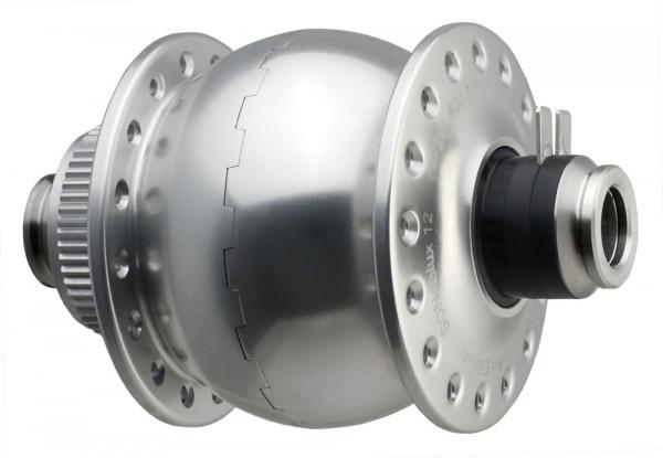 Nabendynamo-SONdelux12-disc center Lock-silber eloxiert (32)