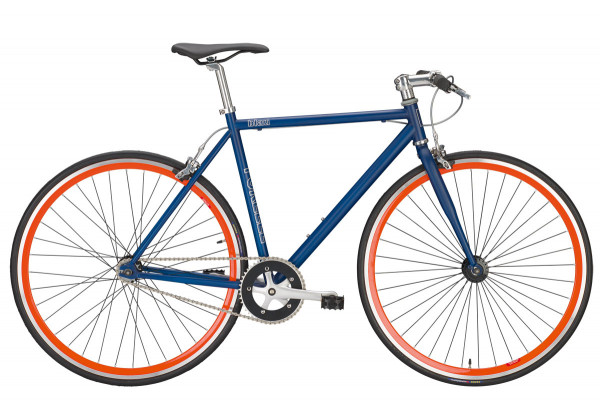 Forelle Blau Singlespeed Fixed Bike - blau/orange