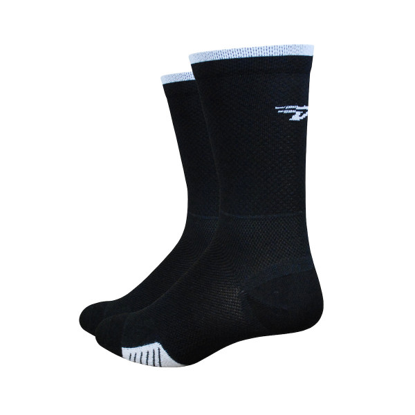 Cyclismo Socken - Thermocool -  Schwarz/Weiss