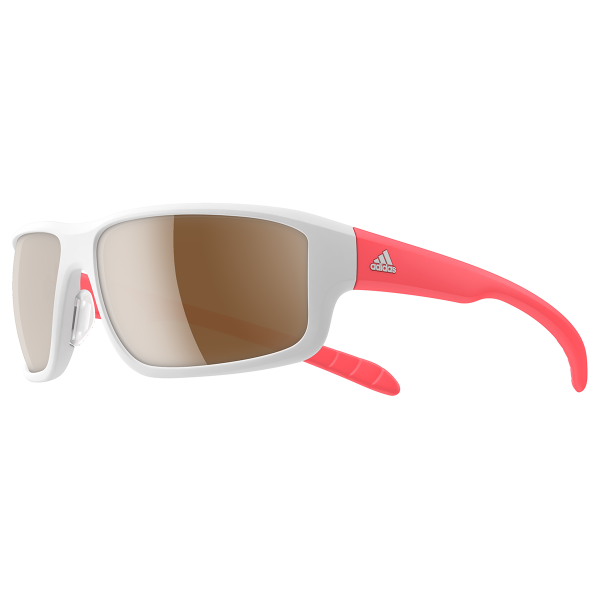 Kumacross 2.0 Sonnenbrille - White Matt/Flash Red
