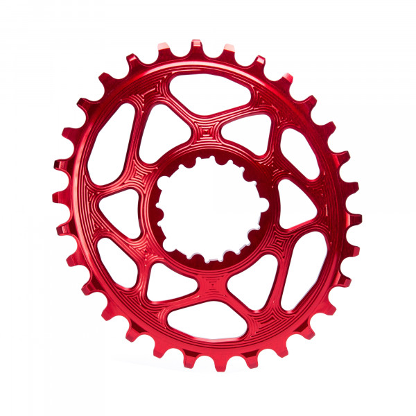 SRAM GXP Direct Mount Kettenblatt - Oval - 6 mm Offset - rot