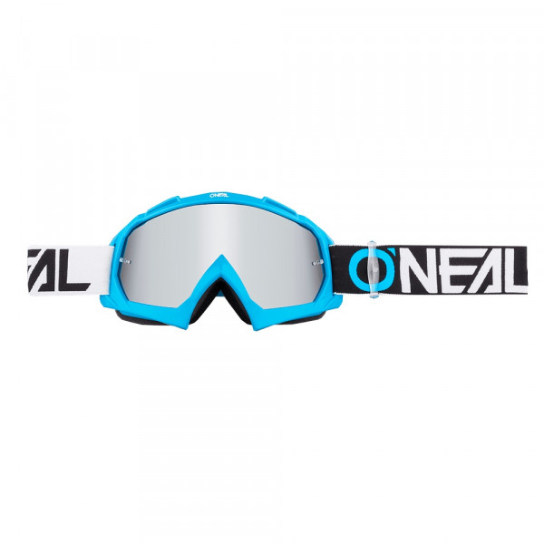B10 Twoface Goggle - blue - Glass mirror silver