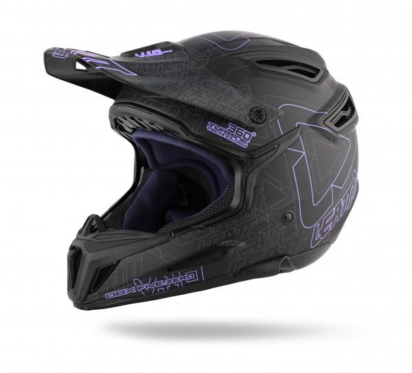 DBX 5.0 Composite Fullface Helm Black/Purple