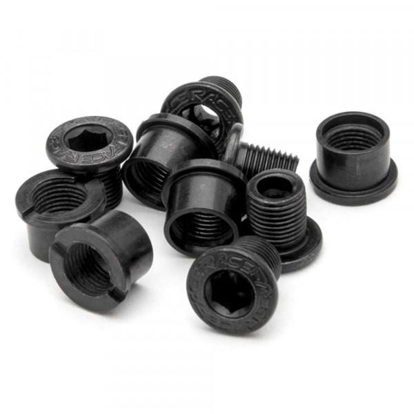 Kettenblattschrauben Chainring Bolt/Nut Pack - 2-fach - Alu - black