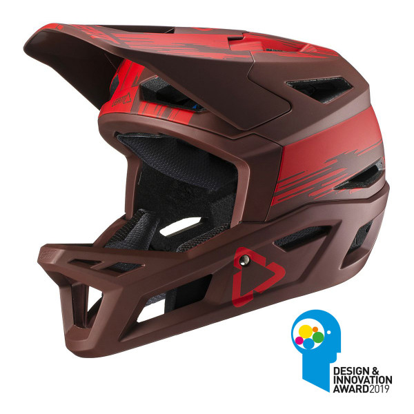 Full Face Helm DBX 4.0 Super Ventilated - Rot