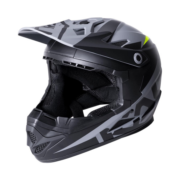 Zoka Fullface Helm - Dark Black - Youth