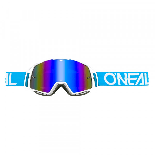 B20 Flat Goggle - teal/white - Lens radium blue