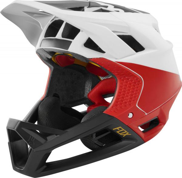 Proframe Helm - Weiß/Schwarz/Rot