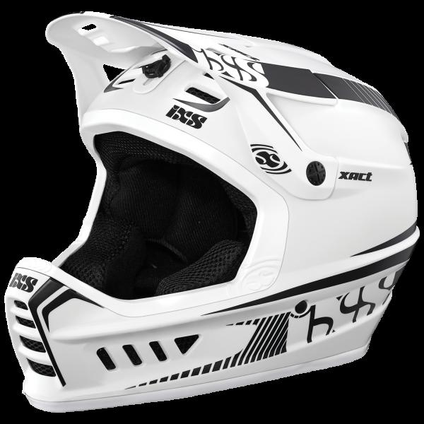 Xact Fullface Helm - white/black