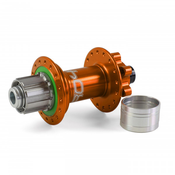 Pro 4 Trial/Singlespeed Hinterradnabe orange 32 Loch - 12x135/12x142mm