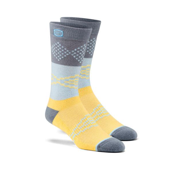 Antagonist Socken - Grau/Gelb
