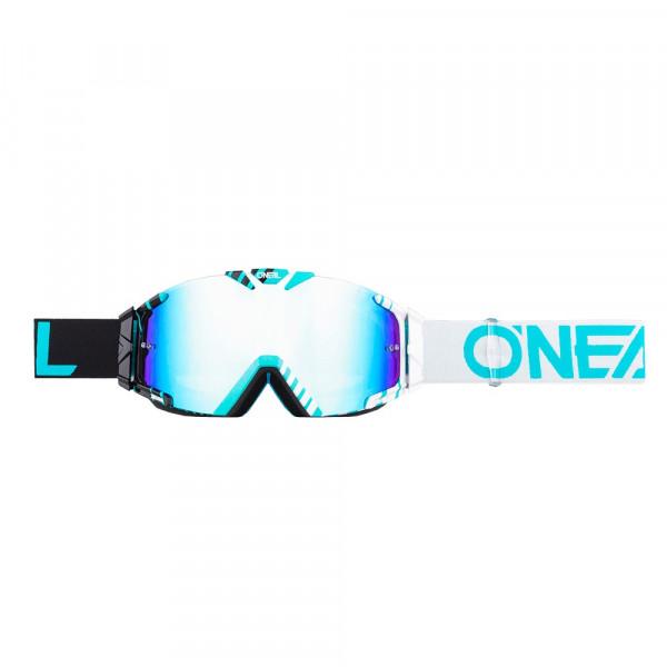 B30 Duplex Goggle - black/white - Lens radium blue
