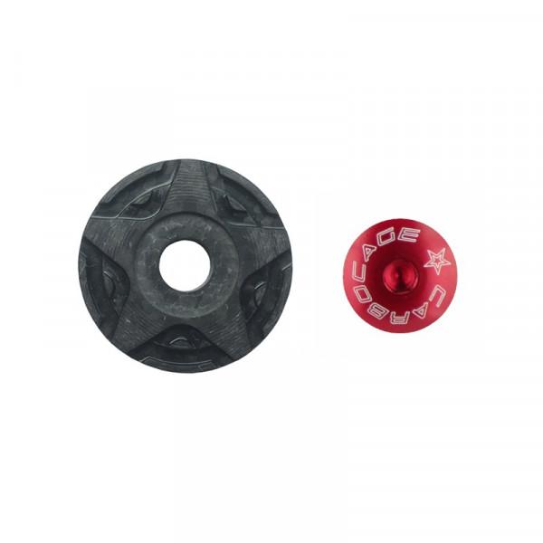 Top Cap Carbon 3D Aheadkappe - rot
