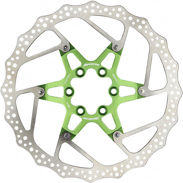 Bremsscheibe mit Alu Spider - grün