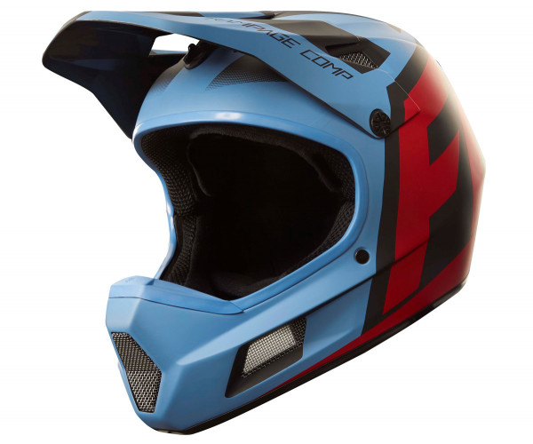 Rampage Comp Helm - Creo Blue/Red