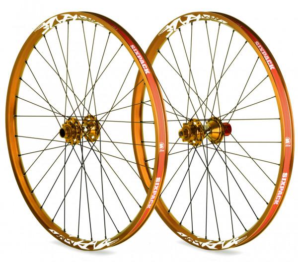 Vice DH Laufradsatz 26 Zoll 20/150mm - gold