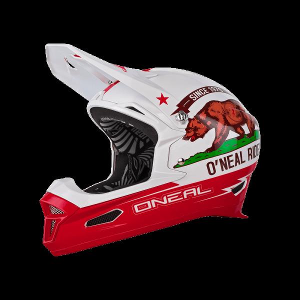 Fury RL California Helm - white/red