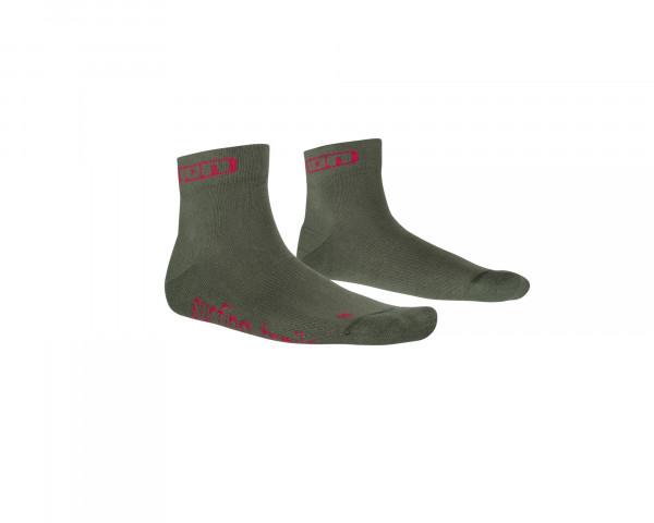 Role kurze Socken - grün