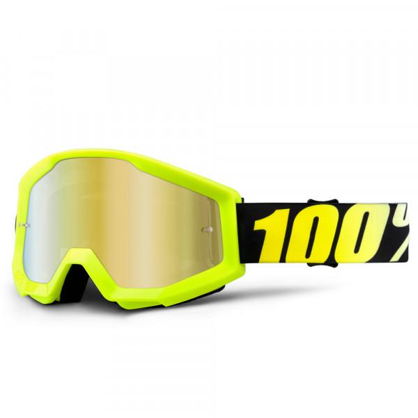 Strata MX Goggle - Neon Yellow Mirror Lens
