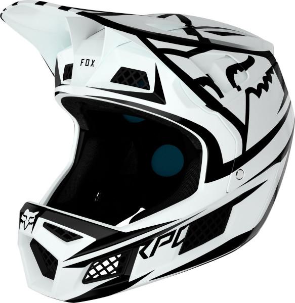 Rampage Pro Carbon Helm - Weiß