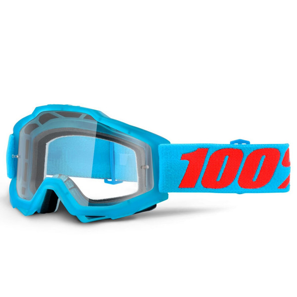 Accuri MX Goggle - Acidulous Cyan Clear Lens