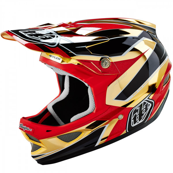 D3 Fullface Helm Reflex Gold Chrome